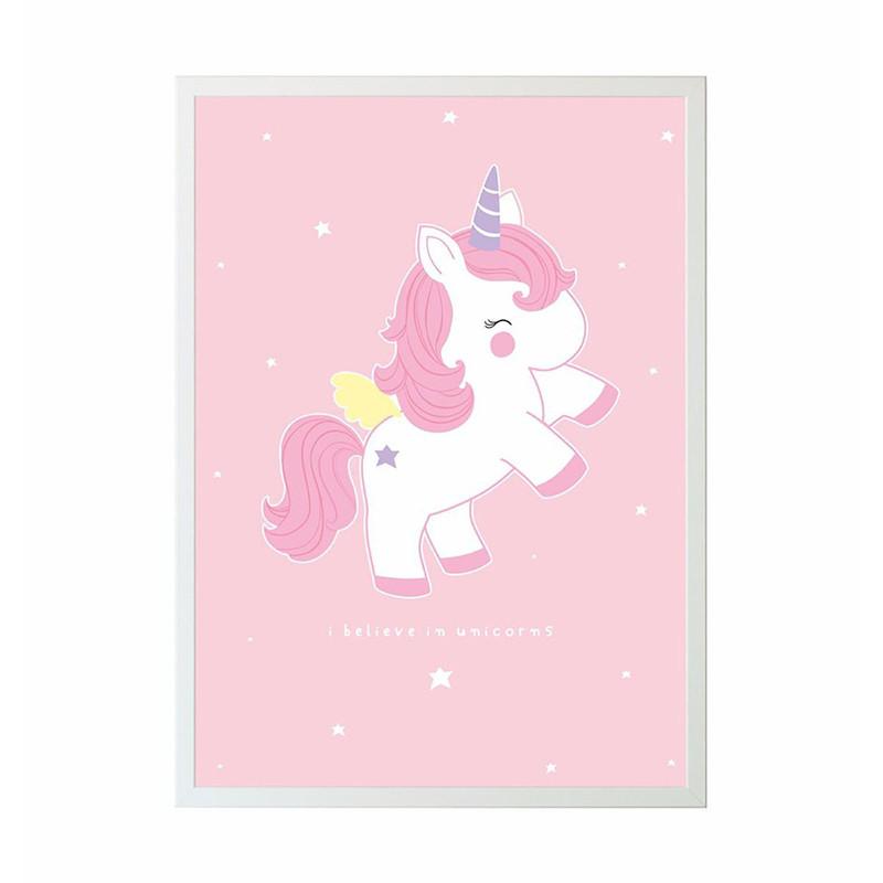 Kinderzimmer Poster Baby Unicorn Stadtlandkind