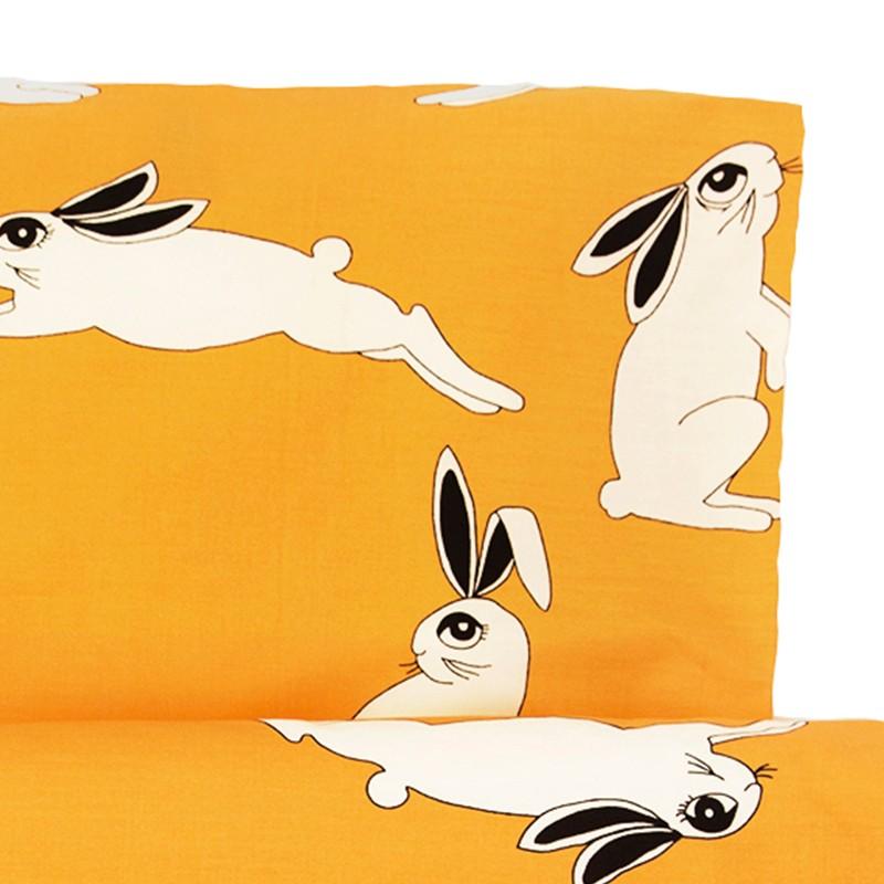 Schlafen Bettwäsche Baby Rabbit Yellow Stadtlandkind
