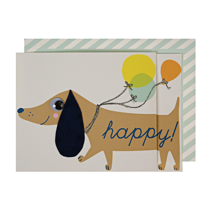 Birthday Card Sausage Dog