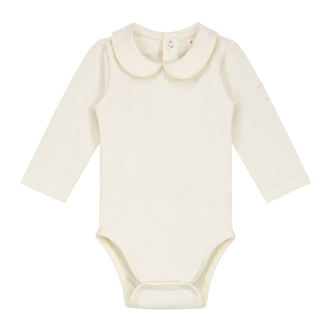 3c1f380d7 Baby Onesie with Collar Cream
