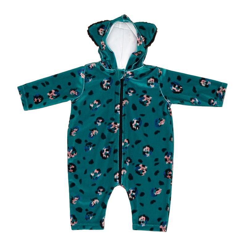 689a96e349 Baby Jumpsuit Leopard Emerald
