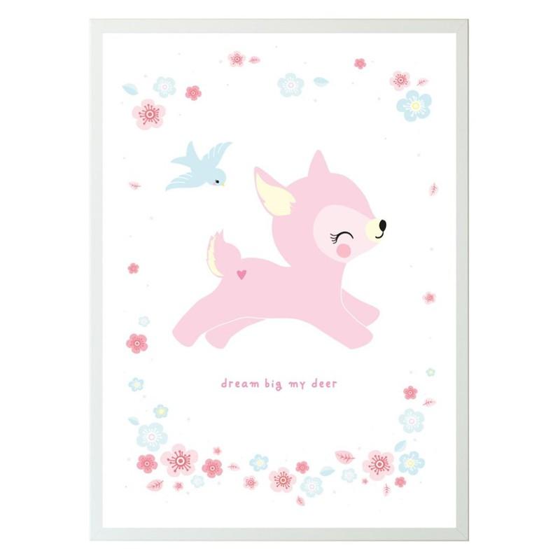 Babyzimmer Poster Deer Stadtlandkind
