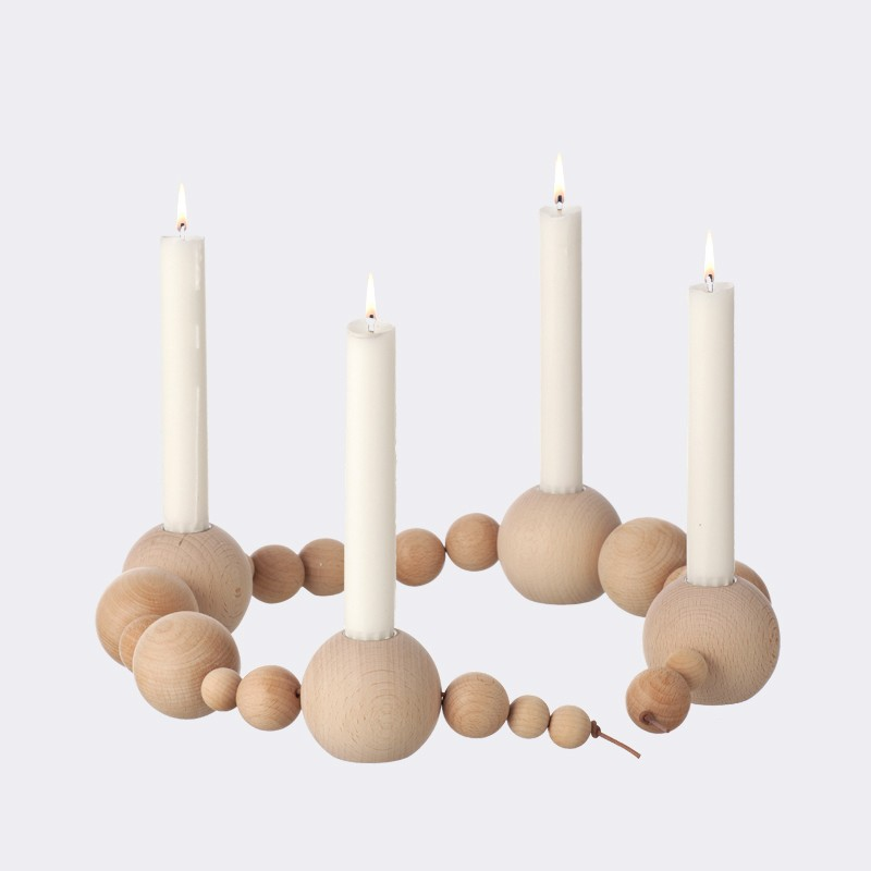 candle holder string nature stadtlandkind. Black Bedroom Furniture Sets. Home Design Ideas